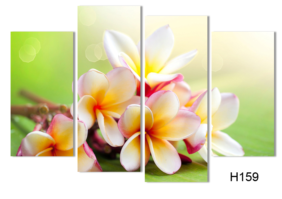 Modern Flower Paintings Canvas Art Prints 4 Piece Home Wall Decor ...