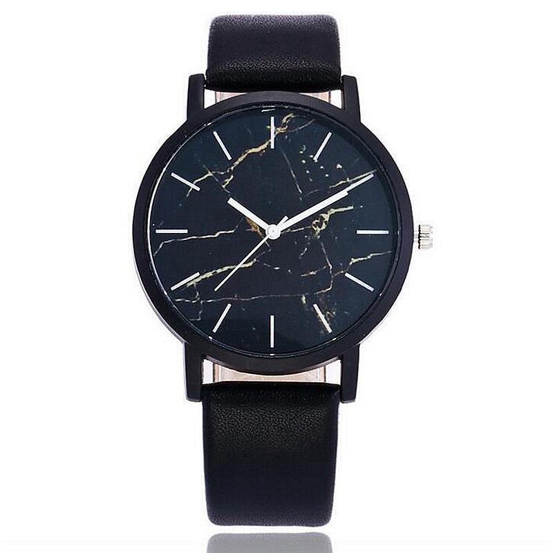2017 Marble Style Leather Quartz Women Watch Top Brand Men Watches Fashion Casual Sport Wrist Watch Hot Sale Lovers Relojes claudia hot sale creative fashion watches men casual faux leather analog big dial sport style wrist quartz watch dropship