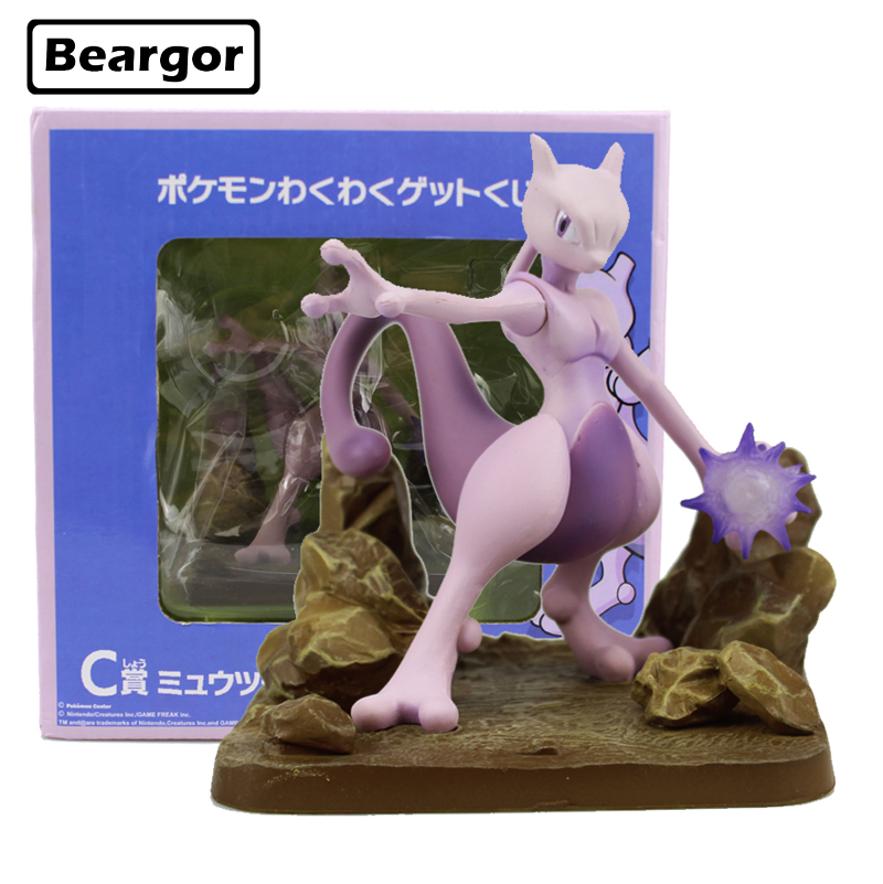 Free Shipping 4 Pocket Monster Mewtwo Ichiban Kuji C Prize Boxed 11cm PVC Anime Action Figure Collection Model Doll Toys Gift laptop keyboard for clevo w670sfq w670sfq1 black without frame slovenian sv