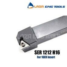 SER1212H16, suporte de ferramenta de giro Indexável Rosqueamento Externo SEL1212H16, SOR SEL CNC ferramenta de Tornear Rosca, Torno ferramenta para 16ER