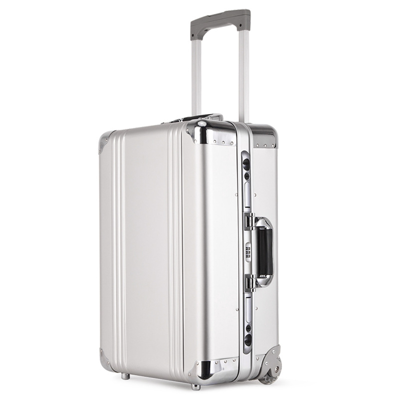 цена на Aluminum-Magnesium Alloy Trolley case 100% fully Metallic Travel Suitcase 20 inch Boarding case Man and Women Trolley Luggage