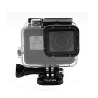 TELESIN New Go Pro Accessories Underwater 45M Gopro Waterproof Housing Case Shell Cover Mount For For