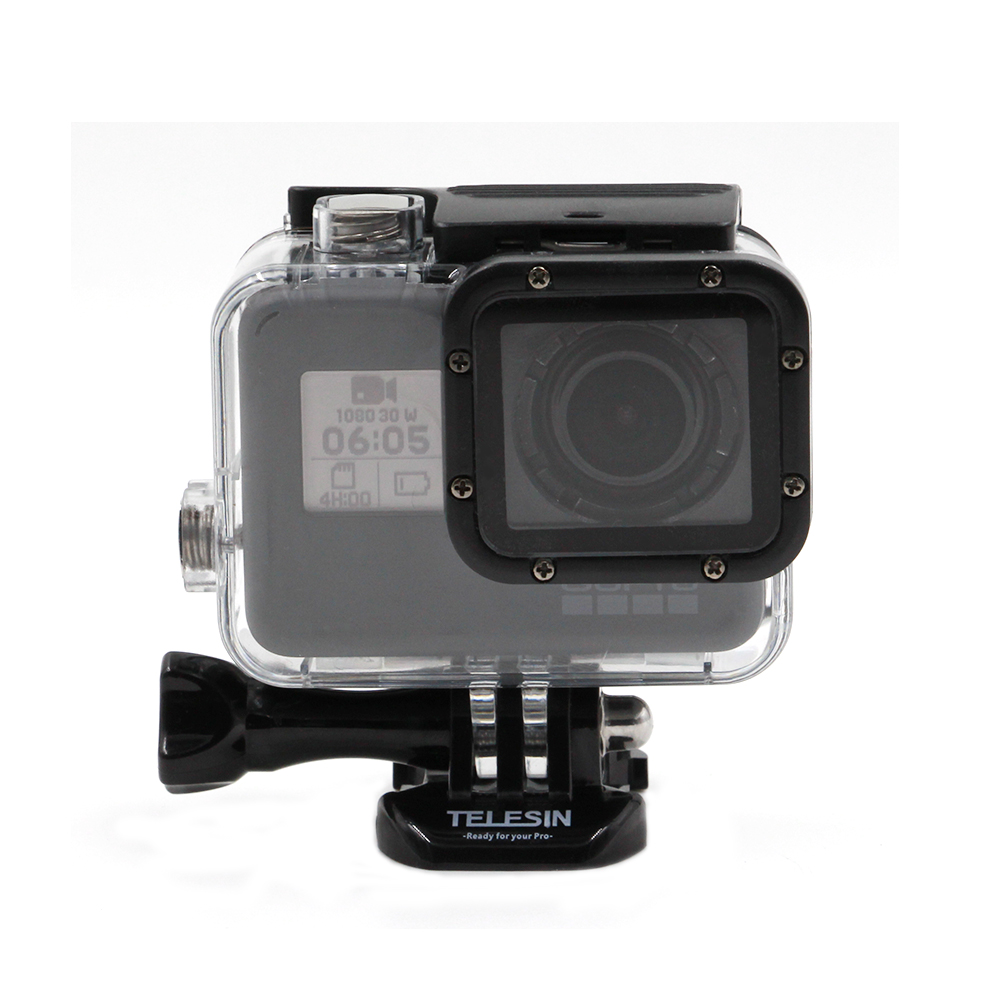TELESIN 45M Underwater Waterproof Case Shell Housing Cover for Gopro Hero 6 Hero 5 Camera without