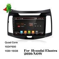 Quad Core Android 6 0 Fit HYUNDAI ELANTRA 2010 2011 Car DVD Player Navigation GPS Radi