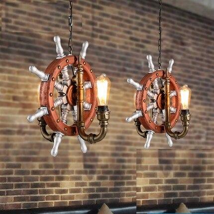 Edison Loft Style Vintage Pendant Light Fixtures RH Industrial Rudder Water Pipe Hanging Lamp Luminaire Lamparas Colgantes retro water pipe lamp loft style vintage industrial pendant lighting fixtures hanglamp lamparas colgantes edison light fixture
