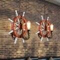 Edison Loft Style Vintage Pendant Light Fixtures RH Industrial Rudder Water Pipe Hanging Lamp Luminaire Lamparas Colgantes