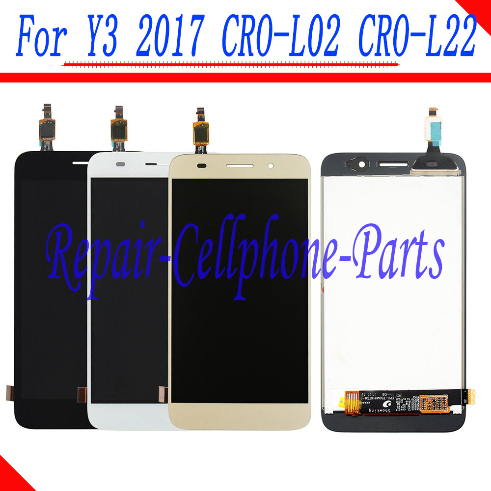 5.0 inch Full LCD DIsplay+Touch Screen Digitizer Assembly For Huawei Y3 2017 CRO-L02 CRO-L03 CRO-L22 CRO-L235.0 inch Full LCD DIsplay+Touch Screen Digitizer Assembly For Huawei Y3 2017 CRO-L02 CRO-L03 CRO-L22 CRO-L23
