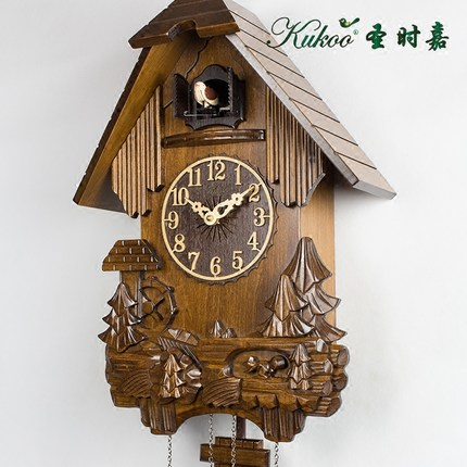 Colored drawing  children room wall cuckoo clock , pine handmade wood - Home Decor - Photo 2