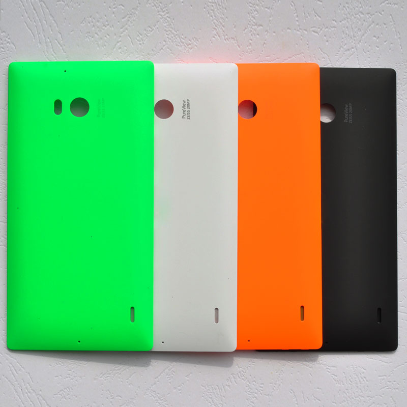 BINYEAE New Plastic Battery <font><b>Cover</b></font> Rear Housing For Nokia Microsoft <font><b>Lumia</b></font> <font><b>930</b></font> <font><b>Back</b></font> Case With Logo <font><b>930</b></font> Replace Part image
