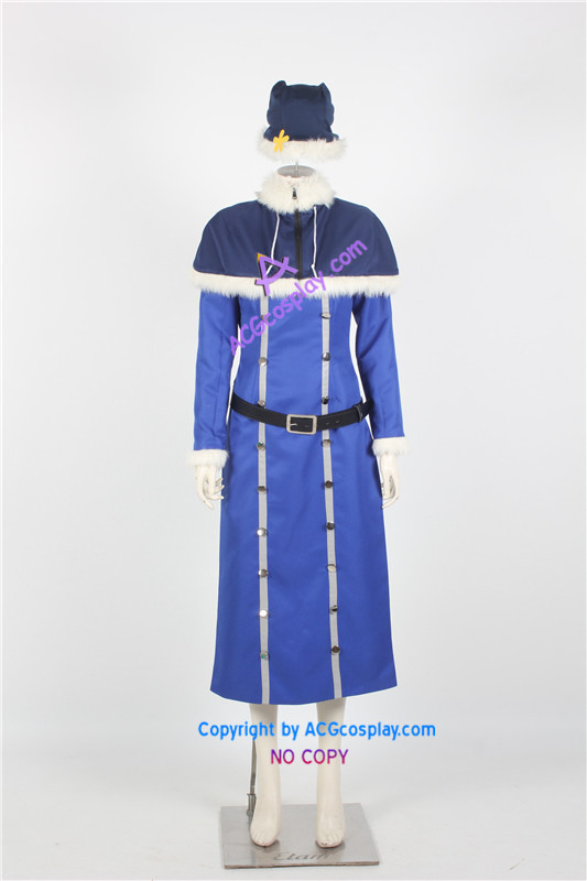 Pohádkový ocas Juvia Lockser Cosplay Kostým modrá verze