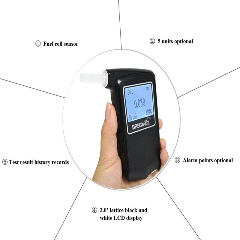 3 pièces/2019 dynamitage nouvelle Police numérique LCD pile à combustible capteur souffle alcool testeur alcootest analyseur détecteur livraison gratuite - 6