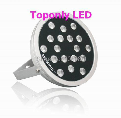 2017 New IP65 outdoor 48w prolight 4 in 1 rgbw led wall washer light DC24v full color round high power led projector CE&ROHS