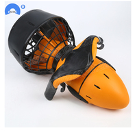 Electric Underwater Scooter 300W Water Sea Dual Speed Propeller Diving Yellow Colors with battery Waterproof