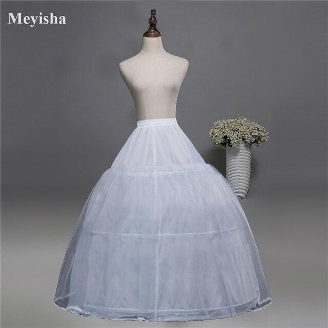 52016 ชุดแต่งงาน Crinoline เจ้าสาว Petticoat Underskirt 3 ห่วง