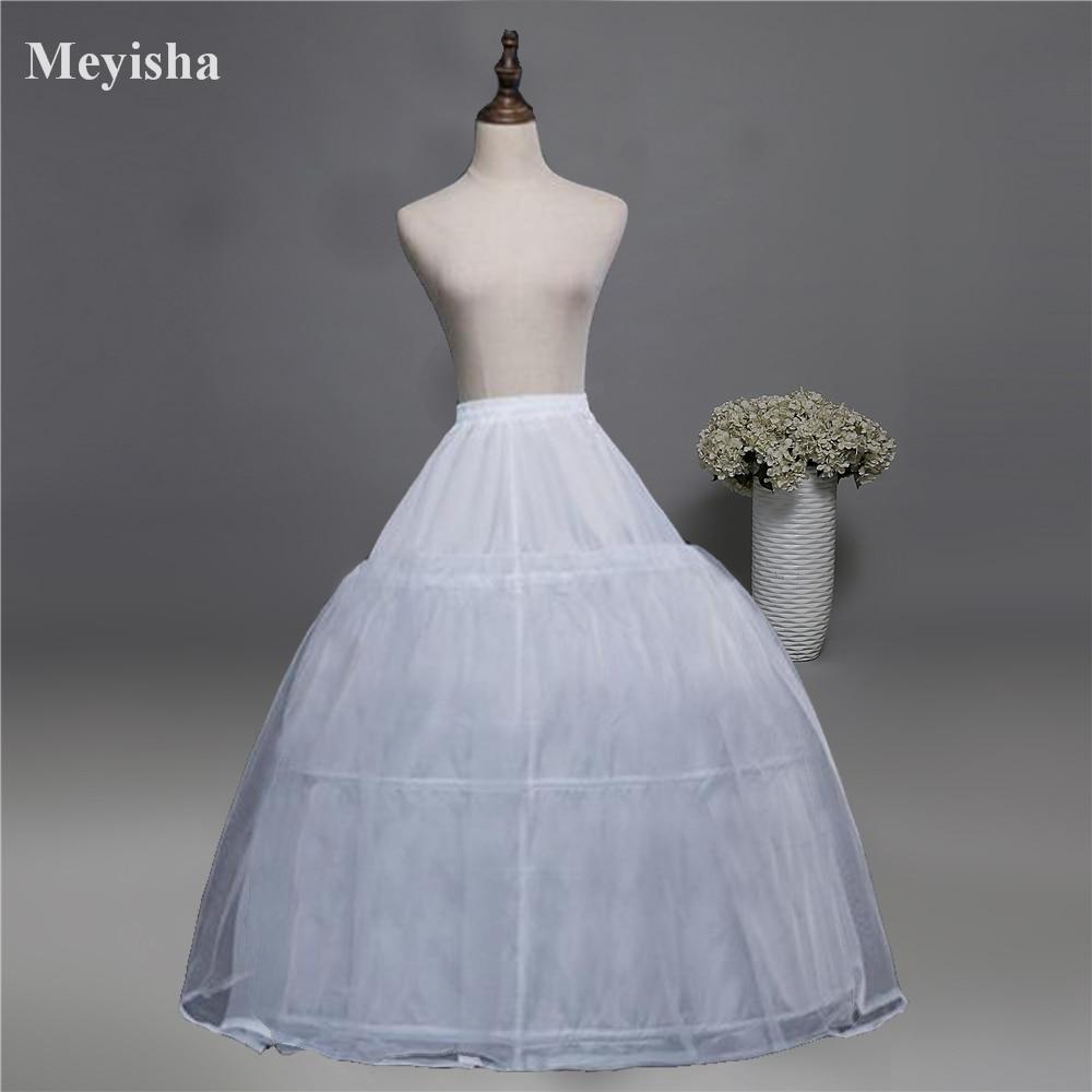 52016 Wedding Dress Crinoline Bridal Petticoat Underskirt 3 Hoops