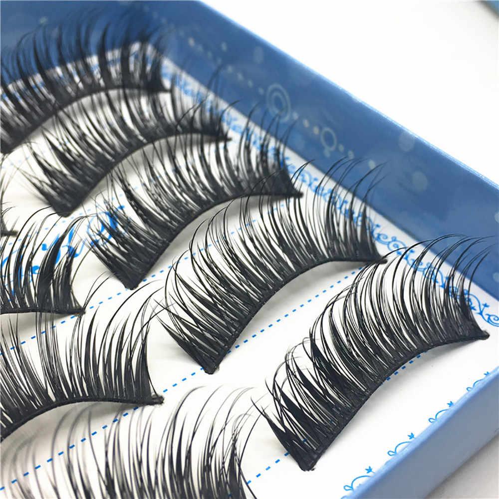 5 זוג עבה מזויף ריסים טבעי שווא ריסים נפח ריסים מלאכותי ריסים הרחבות False ריסים איפור ריסים 1F25