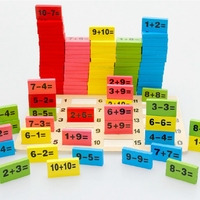 Монтессори развивающая игрушка деревянная математические игрушки для детей домино 3-4-5-6-7-8 лет игра смешные подарки дети