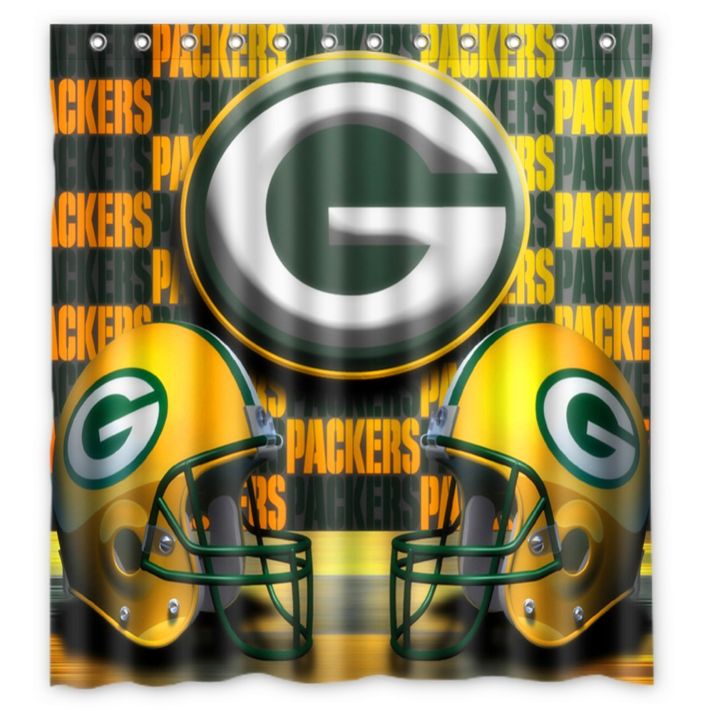 Vixm Home Green Bay Packers Shower Curtains Movies Symbol Waterproof Fabric Bathroom 66x72 Inch In From Garden On