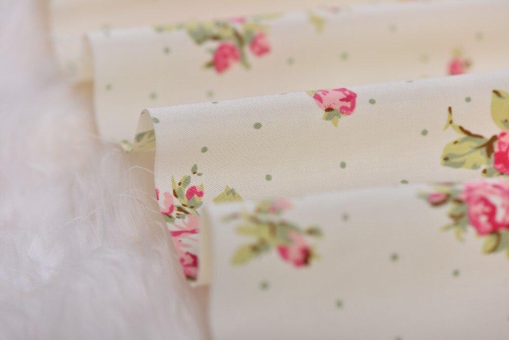 160x50 cm Elegante Aumentó 100% algodón Acolchado de tela Verde romántico Bebé T