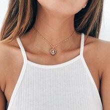 Women's Christian Jewelry Cross Heart Choker Necklace