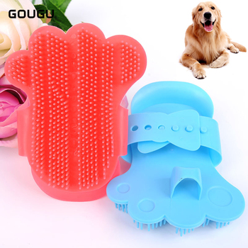1PC GOUGU Cat Dog Soft Rubber Massage Gloves Pet Cleaning Bath Removal Brush Comb Shampoo Grooming Tools