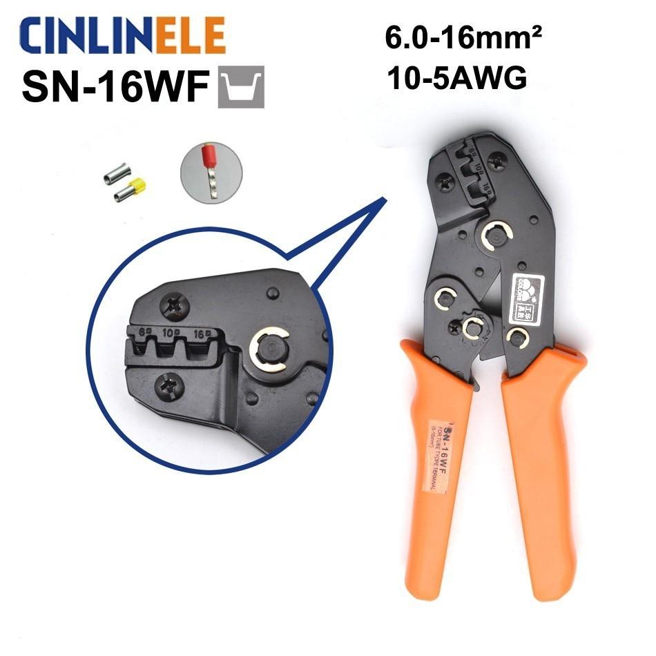Handwerkzeuge Konstruktiv Freies Verschiffen Sn-16wf 6,0-16mm 10-2awg Mini Art Selbst Einstellbare Crimpen Hand Zangen Elektrische Draht Terminals Crimper Werkzeuge Zangen