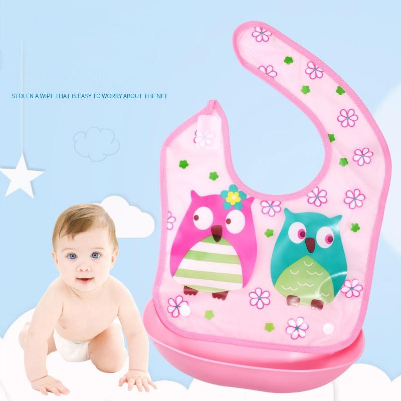 Boys' Baby Clothing Bibs & Burp Cloths Precise Silica Baby Bandana Bibs Lovely Animals Meals Pocket Bib Waterproof Easy To Clean Feeding Newborn Infant Food Bib Baberos Bebes
