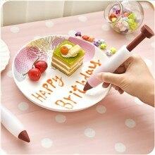 Silicone Food Writing Pen Chocolate Decorating Pen Cake Mold Fondant Cake Cream Decorating Tools