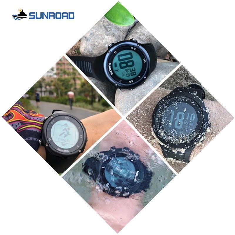 Reloj Digital SUNROAD inteligente GPS para hombre con frecuencia cardíaca con 50 m de carga USB resistente al agua corriendo senderismo jogging reloj de pulsera - 5