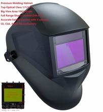Сварочный Шлем Премиум Маска 100*65 мм 1111 4 Датчики Фильтр Сварочный Шлем Cap Солнечная Авто Затемнение МИГ TIG Шлифовальные 3-13 CE UL CSA