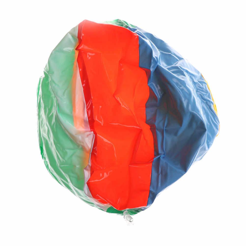 레인보우 컬러 풍선 비치 볼 바다 수영장 물 놀이 공 어린이 고무 교육 소프트 풍선 장난감 25cm