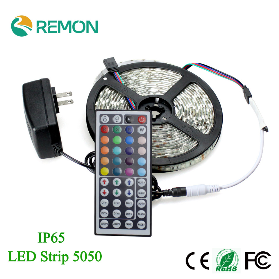 Outdoor 12 Volt 60leds Meter Led Strip Smd 5050 Rgb: LED Strip 5050 RGB Flexible Waterproof IP65 60leds/m LED