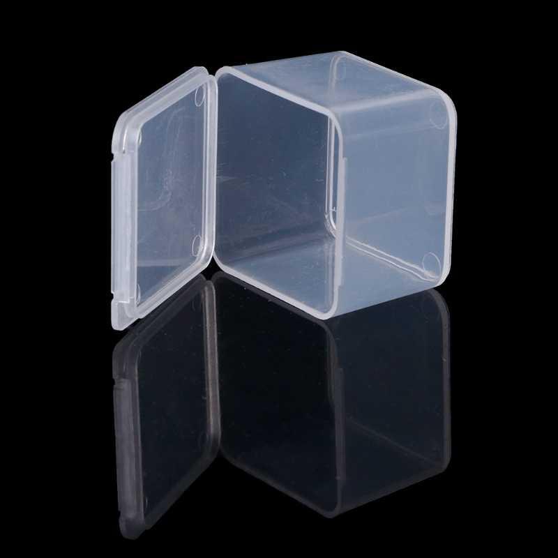 Пластиковые квадратные прозрачные пластиковые контейнеры, ювелирные изделия, бусины, коробка для хранения, серьги, кейс, ожерелье, органайзер, женская коробка для макияжа