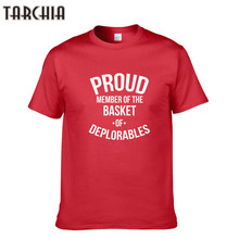 TARCHIA 2018 Brand Clothing Men's Cotton Short Sleeve T Shirt Spring Summer Casual Men's T-Shirts Letter Printed Tees Tops