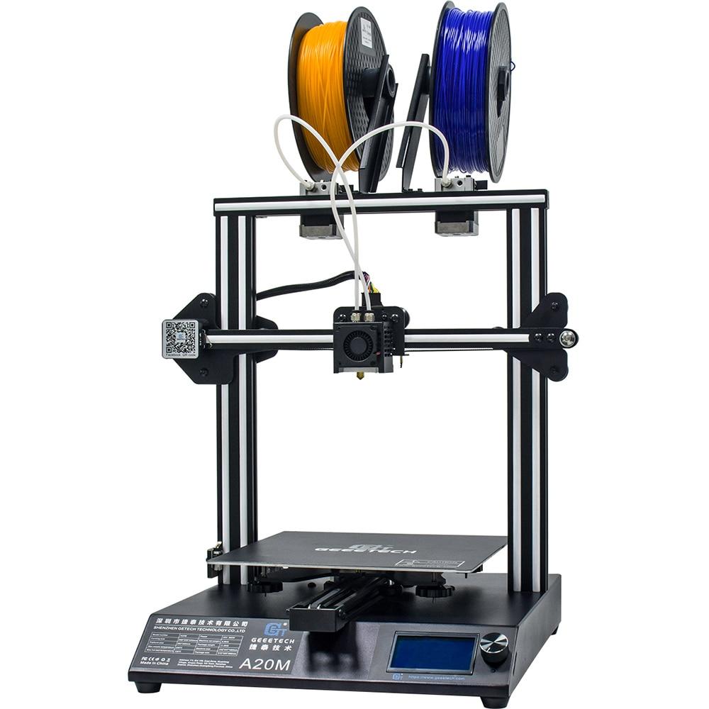 Imprimante 3D GEEETECH A20M avec impression couleur mélangée, Base de bâtiment intégrée et double extrudeuse et détecteur de Filament - 4