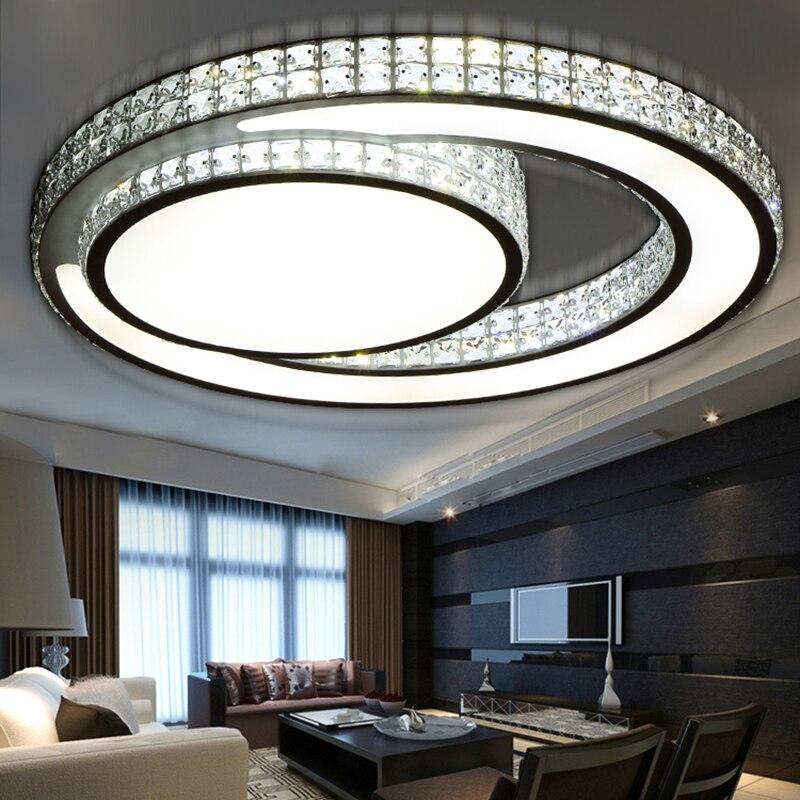 Moderne kristall deckenleuchten schlafzimmer wohnzimmer lampen ...