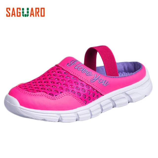 47306cb4ee62d SAGUARO Kids Sandals For Girls Boys Casual Shoes Sneakers Fashion Breathable  Mesh Child Sandals Slippers Beach Summer Sandals