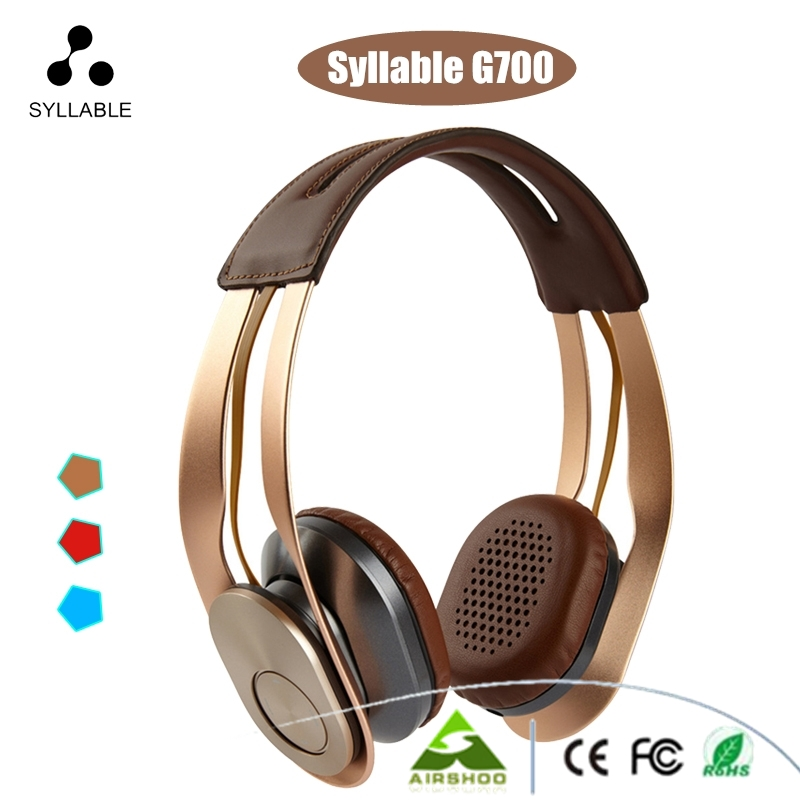 Syllable G700 Stereo Bluetooth 4.0 Headphone 3.5mm HIFI NFC Noise Cancellation Double Microphone Headset For iPhone Samsung