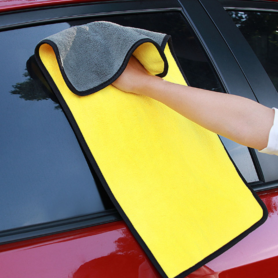 1Pcs Car Wash Microfiber Towels Super Thick Plush Cloth 30*60CM 600 GSM Auto Strong Thick Plush Car Cleaning Drying Cloth