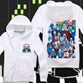 Harajuku Games Undertale Skull Brother Printed hoodie Undertale sans cosplay Sweatshirts Unisex Skeleton Zipper Coat 112703