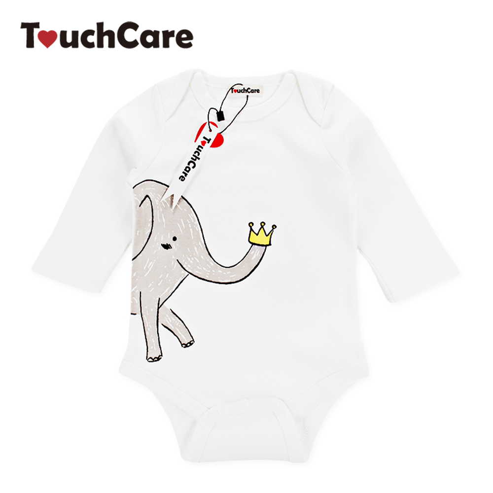 Infant Cute Cartoon Animal Elephant Printed Baby Boy Girl Rompers Newborn Soft Cotton Kids Jumpsuit Long Sleeve Toddler Clothes delicate hot cute animal newborn girl boy soft sole crib toddler shoes canvas sneaker for 0 12m m22