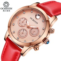 OCHSTIN Fashion Quartz Watch Relogio Feminino Watches Women Dress Luxury Brand Waterproof Gold Bracelet Wristwatch Montre