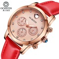 OCHSTIN Chronograph Relógios As Mulheres Se Vestem de Moda Relógio de Quartzo Relogio feminino Marca De Luxo de Ouro Pulseira de Relógio de Pulso montre femme