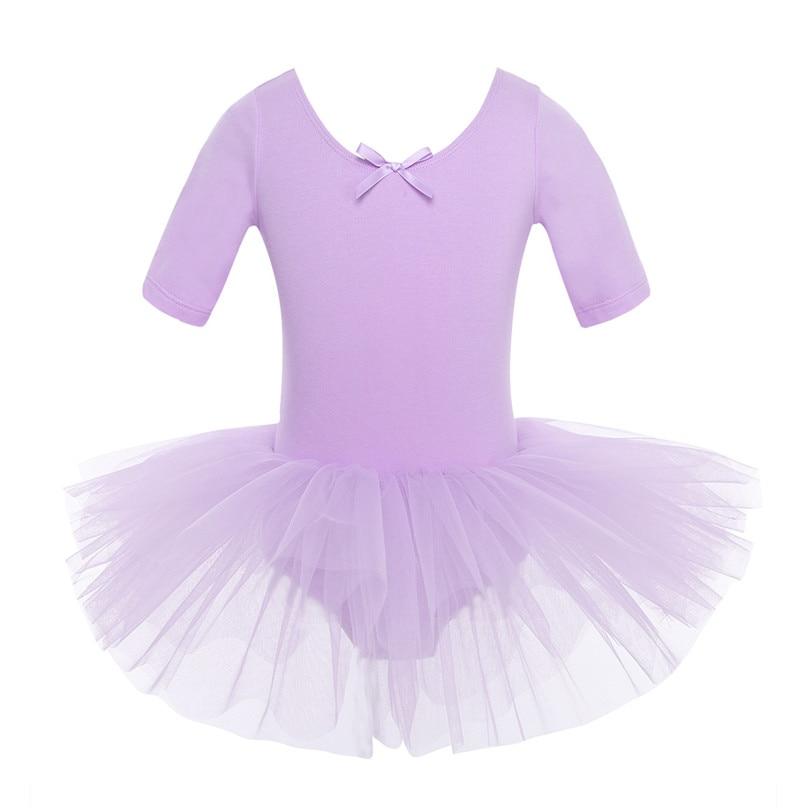 4 Color adolescentes de manga corta algodón Ballet Tutu niños trajes ...