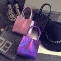 Monsisy brand bags Fashion women messenger bags Creative laser Patent leather phone shoulder bags children girls mini handbags