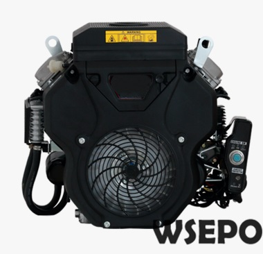 Factory Direct Supply WSE-2V78F 678CC 22HP 13KW V Twin Cylinder Air Cool 4 Stroke Gas Engine,used for Generator,Ground Driller aluminum water cool flange fits 26 29cc qj zenoah rcmk cy gas engine for rc boat