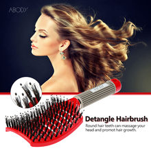 Abody Bristle & Nylon Hair Comb Hair Brush barber accessories Women brush hair Scalp Massage  hairdressing accessories for Haird