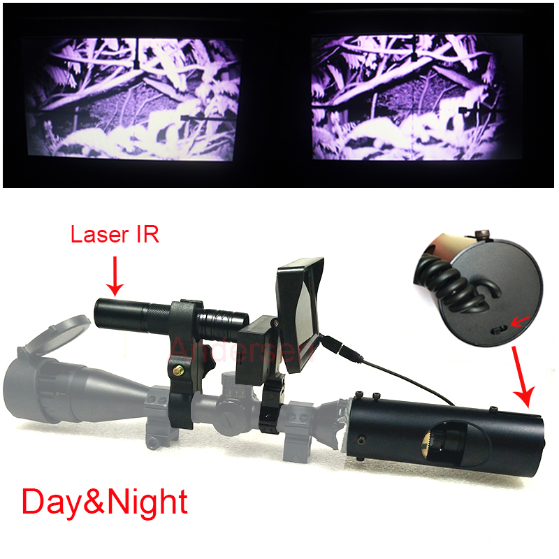 Sniper Zoom Outdoor Hunting optics sight Scope Tactical digital Laser Infrared night vision riflescope use in day & night