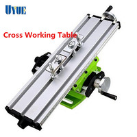 Multifunctional Mini Cross Working Table For Drilling Milling Machine Bench Vise Mechanic Tools Drill Adjustme