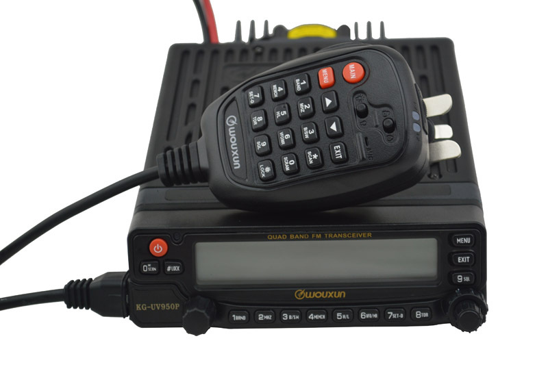 Wouxun Mobile CB Radio Transceiver KG UV950P Qual band Transmission& Eight Bands Reception Max.50W car radio station